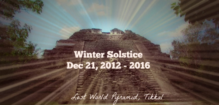 Mayan Wisdom from Winter Solstice 2012 to 2016